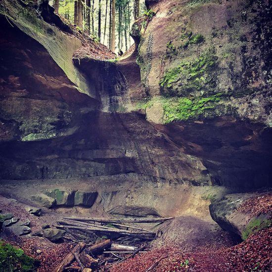 Rock Formation Woodwalking Cave