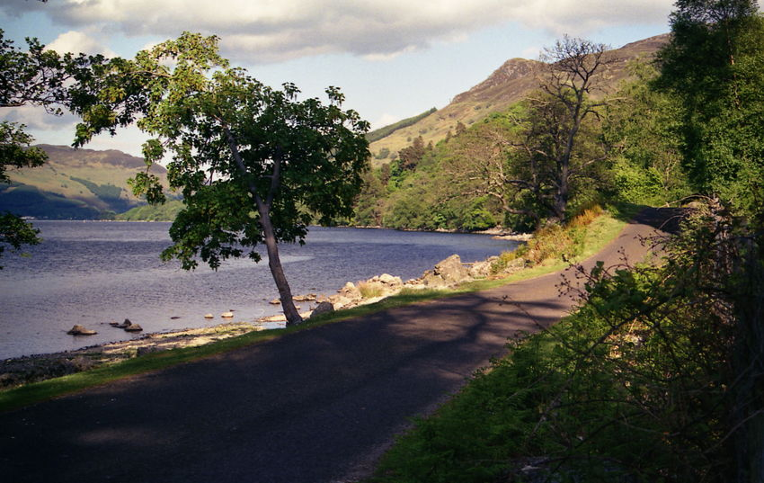 Day Landscape Loch Earn Mountain Nature No People Scotland Highlands Sunlight Tranquil Scene Tree Water