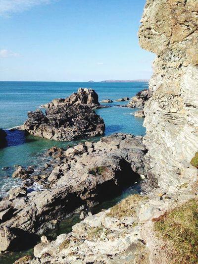 Sun Cornwall Rocks Stone No People Water Sea England🇬🇧