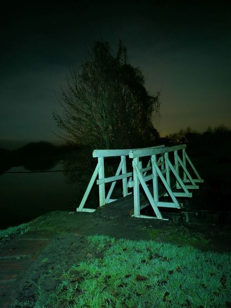 Tree Water Outdoors Night Nightphotography Canal Lock Caen Locks Caen Hill Landscape Nature HuaweiP9 Devizes Caen Hill Locks Bridge Bridge - Man Made Structure