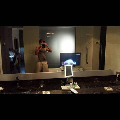 """Yeah, tv screen in my bathroom mirror!"" Miami Fl Bauxarts"