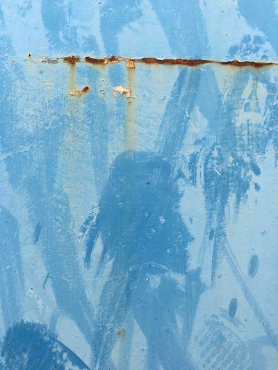 Detail shot of blue wall