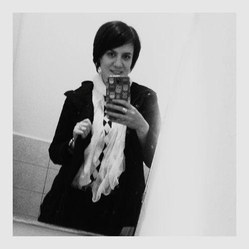 Hey✌ my new hairstyle! 💇 Blackandwhite селфисебяшка себяшка черно-белое чернобелое Black & White Selfie Black And White