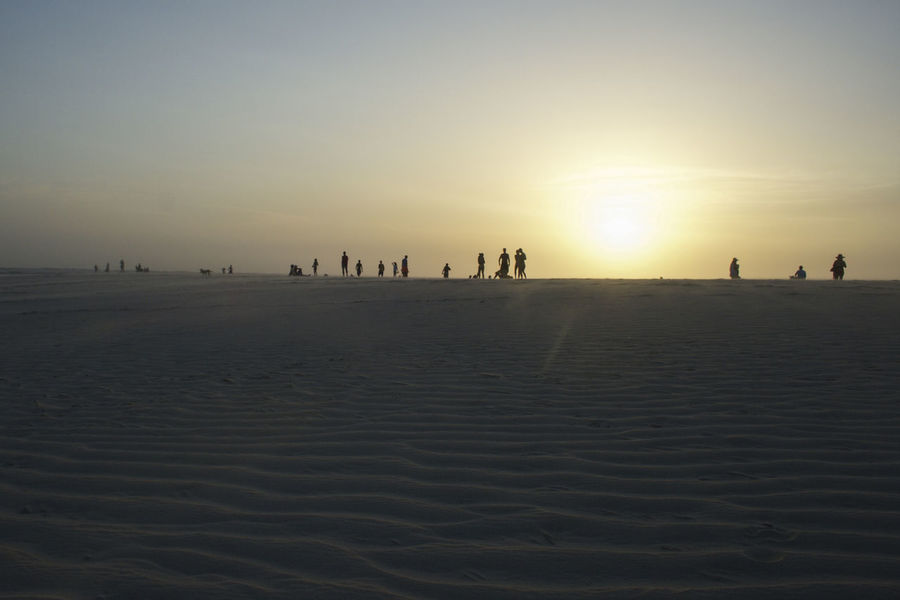 Atmosphere Beach Outdoors Sand Jericoacoara Shillouette Summer Sunset Vacations