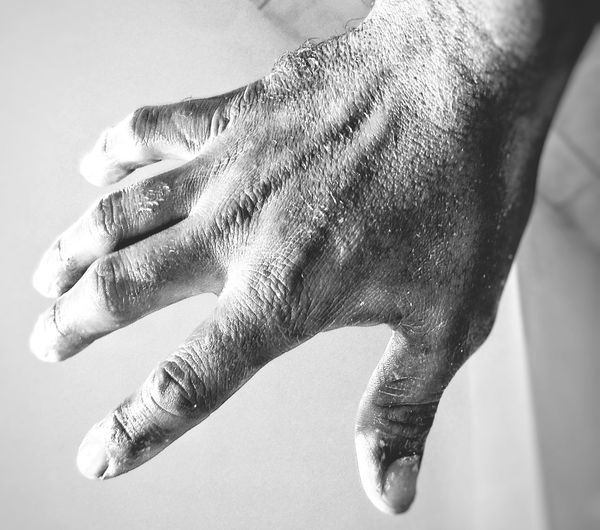 Cropped Image Of Dirty Hand
