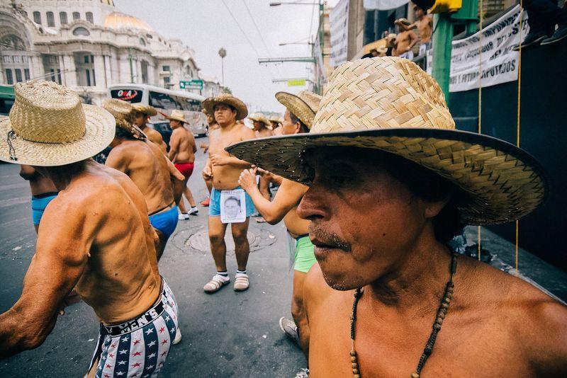 400 Pueblos - Protest rally Street Photography Photography Sombrero Straw Hat Men City Real People Mexico City Protestor Urban Photography Cdmx Ciudad De México Politics Protest