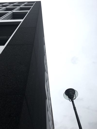 Brutale Geometrie Around The Corner Contrast Brutalism Low Angle View Lighting Equipment Architecture Street Building Exterior Built Structure Sky No People City Outdoors Building