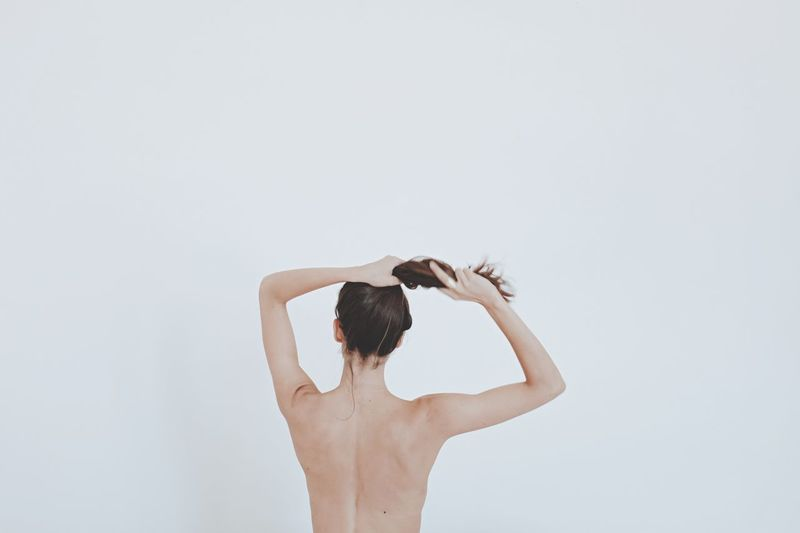 Minimalist White Minimal Vscocam Vscogood Woman VSCO Cam FujiX100T VSCO Fuji X100t White Background People Beauty Portrait Of A Friend Minimalism Abstract Minimalistic Girl Light Fresh On Market 2016