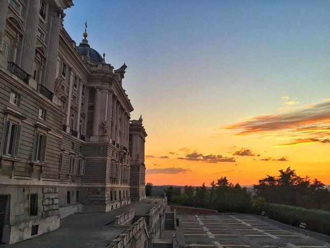 Madrid España SPAIN Palace Sky Sunset Palacio Real De Madrid Palacio Real, Madrid, Spain Palacio Real / Royal Palace Royal Palace Of Madrid Europe Travel Travel Sunset