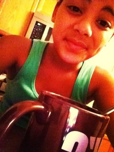 At Lizzys , Hot Tea ^_^