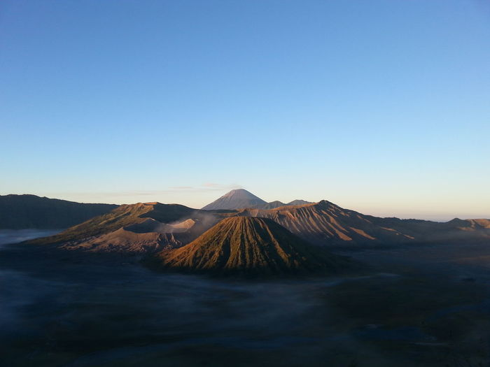 Sunrise Mystery Bromo Bromo Mountain Nature Volcano INDONESIA
