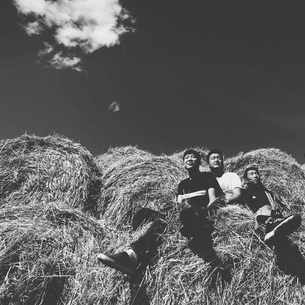 草垛上年轻的男孩们。2016年八月。 纪实摄影 黑白摄影