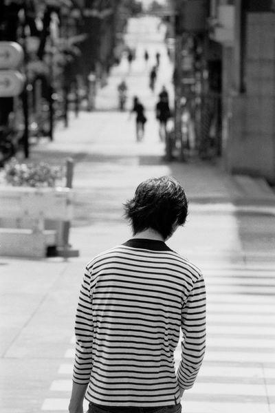 Omotesando, Japan, Tokyo Analogue Film Japan Omotesando Thinking Tokyo Blackandwhite Daylight From Back Man From Behind