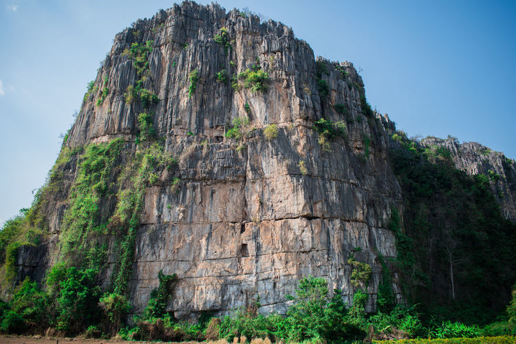 Rock Sky Rock - Object Solid Low Angle View Day Nature Land Rock Formation No People Plant Tree Mountain Architecture Cliff Outdoors History Tranquility Non-urban Scene Tranquil Scene Formation Eroded