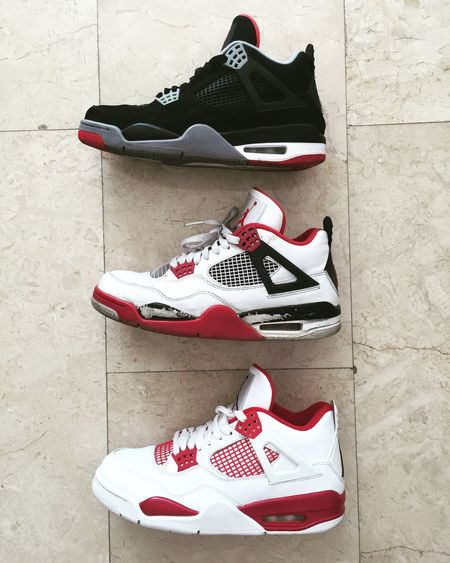 Favorite 4's AirJordan  Jordans On My Feet  Airjordan4 Redpassion