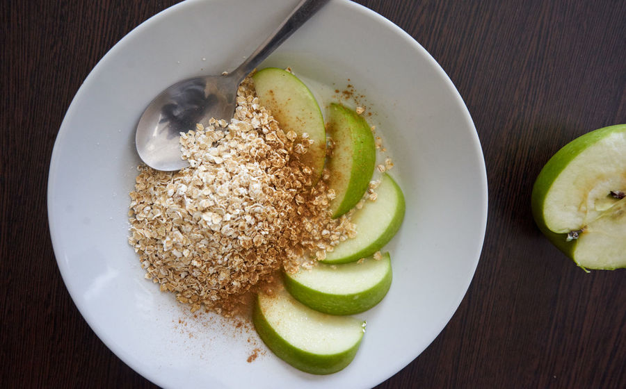 Apple Breakfast Close-up Day Food Food And Drink Freshness Healthy Healthy Eating Healthy Food Indoors  No People Oat Oats Plate Porridge Ready-to-eat Serving Size SLICE Table
