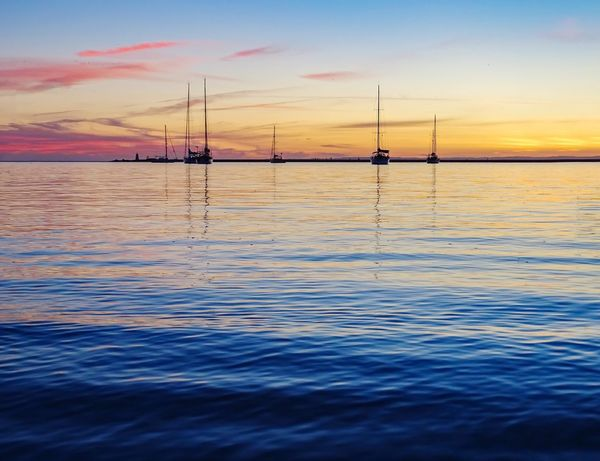 Early Autumn Sunset Water Sea Sky Scenics Beauty In Nature Nature Tranquility Tranquil Scene Reflection Cloud - Sky Sailboat Yacht Lighthouse Emotions No People Tranquility Feeling Good Good Vibes Best Of EyeEm Best EyeEm Shot Nature Photography Nature Lover Sea And Sky Seascape