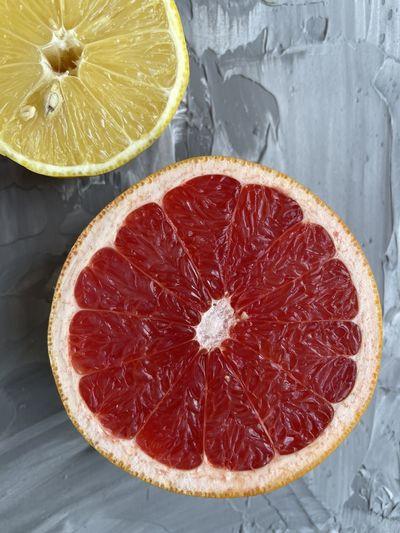 Directly above shot of orange slices