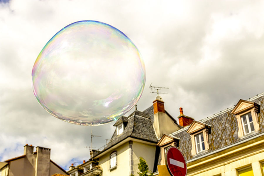 Aurillac Clouds France Outdoors Soap Bubbles Sphere Street Art Transparent