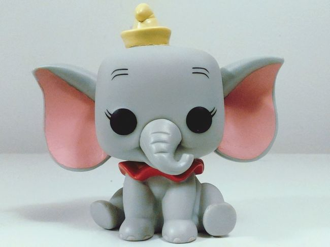 DUMBO Disney Close-up Indoors  Still Life Amazing Colorful Colors Socute Indoors  Childhood GreatMovie Handdrawn Funkopopvinyl Popfunko Vibrant Color Single Object Surface Level Extreme Close-up Figurine  Upclose  Studio Shot Shape No People Elephant