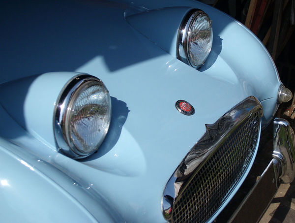 Austin Healey Blue Close-up Day Frog Eyed Sprite Headlight Land Vehicle Mode Of Transport No People Outdoors Part Of Shiny Stationary Vehicle Part Vintage Car Vintage Sports Car