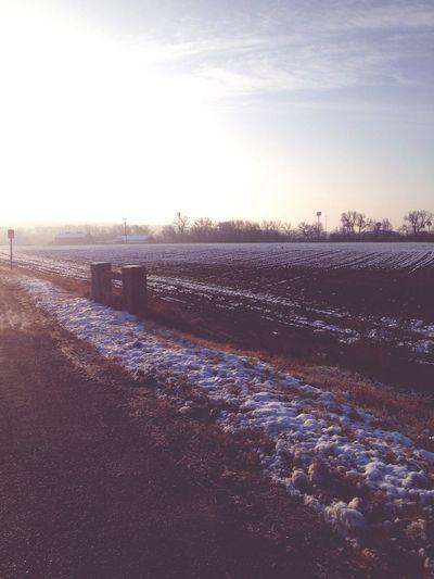 Snow Outside Photography Sunny Sunny Day Kansas Landscape