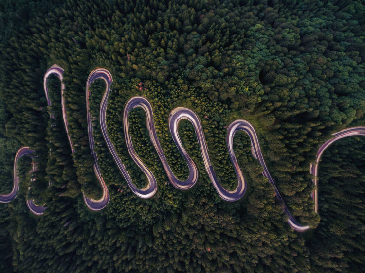 Abstract Day Drone  Forest Long Exposure Mountain No People Outdoors Road Serpemt In The Desert Serpentine Tranquility