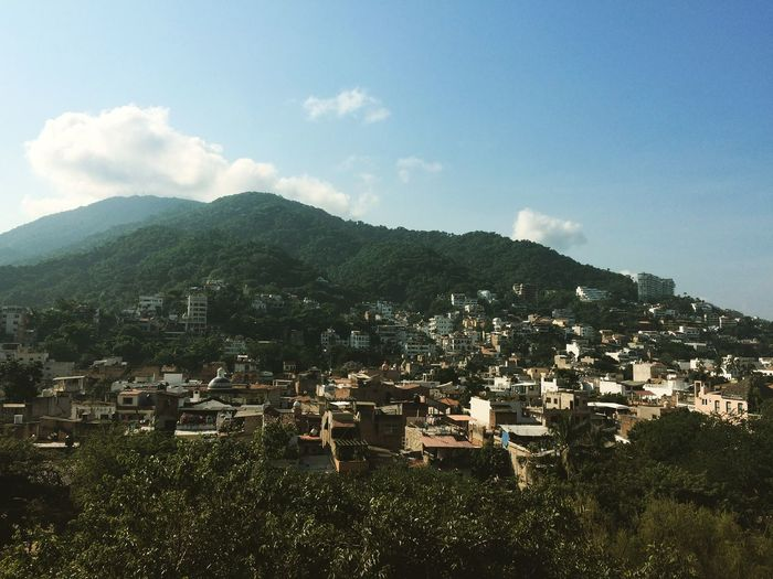 Puerto Vallarta Mexico Mountains And Sky Mountain View Mountain City View  Travel Destinations Travel Architecture Building Exterior Mountain Built Structure Sky Building Residential District Nature Outdoors City