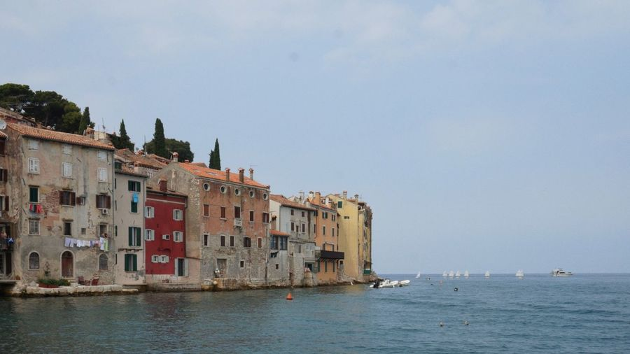 Rovinj Water City Nautical Vessel Sea Beach Community Business Finance And Industry Blue Sky Architecture Historic Residential Structure Residential District Historic Building