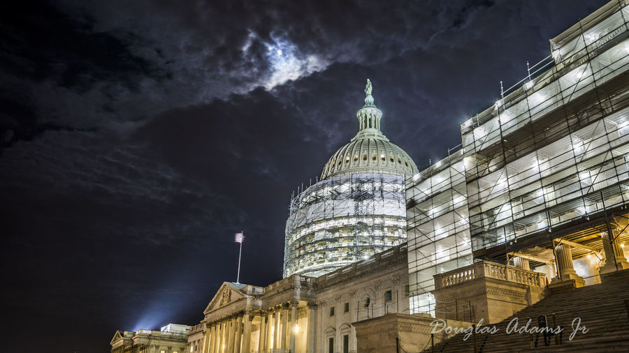 Architecture Building Exterior City Cloud - Sky DCnights Dome Government Illuminated Night No People Outdoors Sky Travel Destinations
