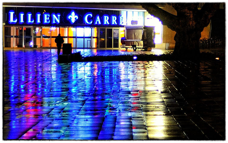 Wiesbaden Architecture Building Exterior City Illuminated Langzeitbelichtung✔ Liliencarre Night Outdoors Rain Reflection Sign Water Wet
