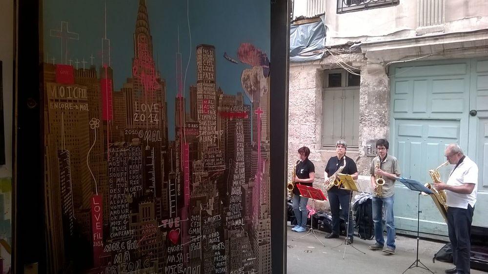 Galerie de Fil et Jazz dans la rue ROUEN