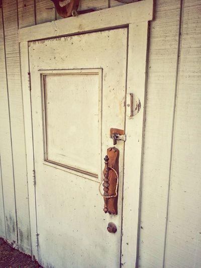 Wood - Material Old Vintage Metal Latch Door Safety Metal Protection Rusty Lock Security Close-up Bolt Doorknob Front Door Door Handle Closed Door Entryway Run-down Locked Closed Deterioration
