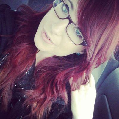 Dyed hair. I like. K