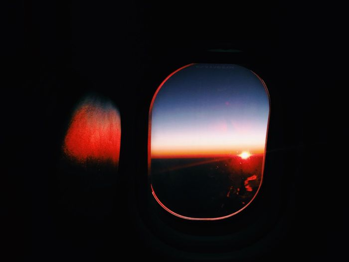 Good morning sunshine Sunrise From An Airplane Window Showcase Showcase: January Australia Airplane Window Portal Window Seat Sun Travel Photography Travel