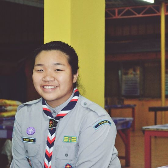 Scouts Looking At Camera Portrait Uniform Front View Confidence  One Person Pride Smiling Military Uniform School Uniform Child People Motivation