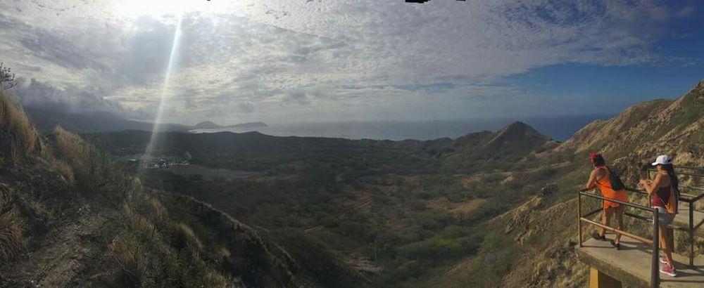 Hello World Aloha Diamond Head Hiking Trail That's Me! With my sister Enjoying The View