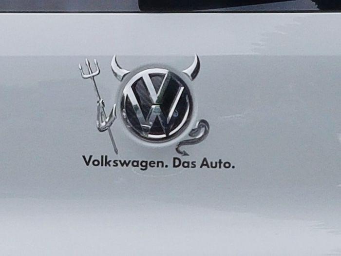 Emblem  Volkswagen Devil Someone Car Good Timing Real Devil