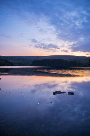 Dartmoor Reflection Rock Silhouette Sky And Clouds Water Reflections Beauty In Nature Clouds Landscape Sky Sunrise Water