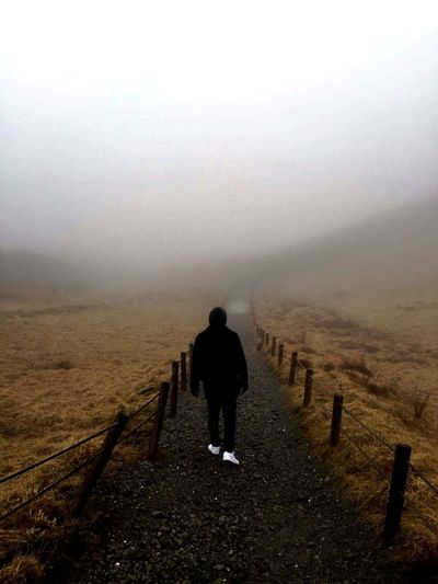 1327 M Above The Sea Foggy Day Future Hakone Japan Japan Looking Into The Future Nature One Man Only One Person Railing Rear View Roamer The Way Forward Tokyo,Japan Walkway
