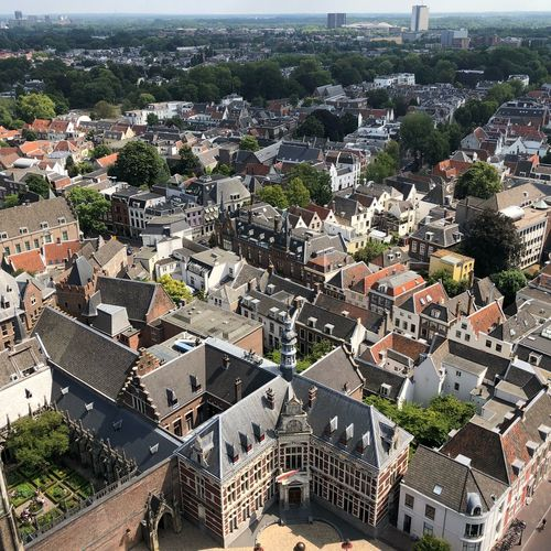 Domtoren Utrecht Netherlands High Angle View Built Structure Architecture Building Exterior City Cityscape No People EyeEmNewHere