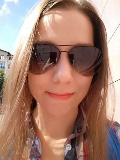 Summer Nofilter No Filter Summer Sun Summertime Glasses Makeup Smile EyeEm Selects Sunglasses Portrait Looking At Camera Headshot Front View One Person Smiling People Only Women Close-up Adult Day One Woman Only Long Hair One Young Woman Only Leisure Activity Outdoors Human Body Part Cheerful
