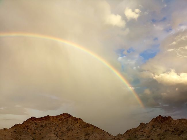 Spectrum Mountain Rainbow Multi Colored Double Rainbow Storm Weather Sky Cloud - Sky A New Perspective On Life