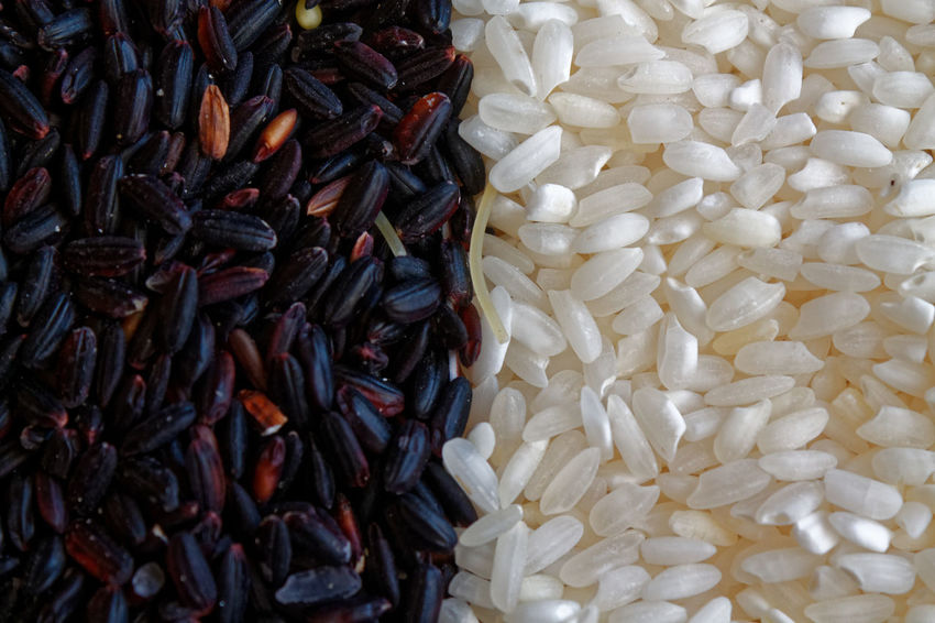 Grainy Images Macro Photography Rice Paddy Textured  Abundance Backgrounds Black Rice Close-up Day Food Food And Drink Foodphotography Freshness Full Frame Grain Healthy Eating Indoors  Large Group Of Objects Macro No People Rice - Cereal Plant Rice - Food Staple Surface Level Wallpaper White Rice