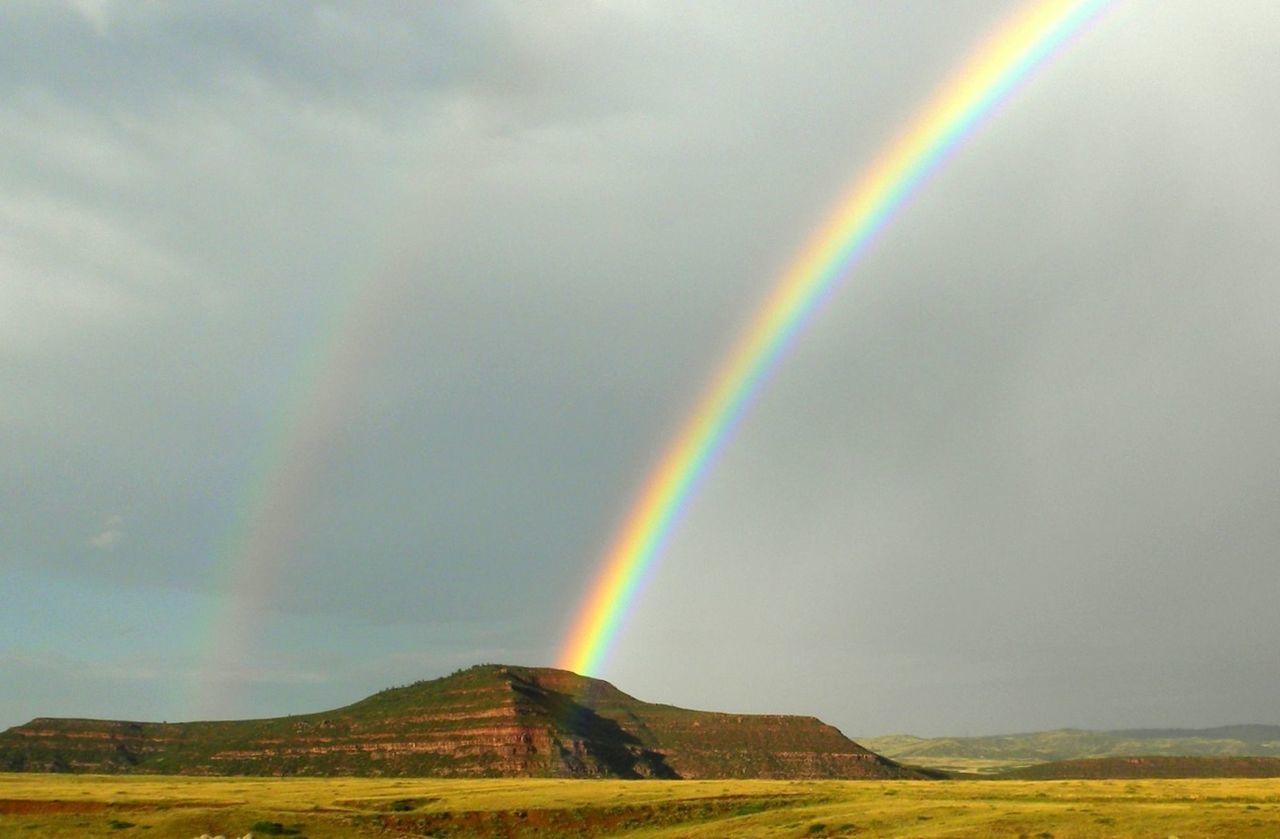 Rainbow Over Prairie