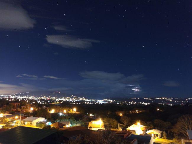 Fgugal Night Star - Space Midnight Rural Scene