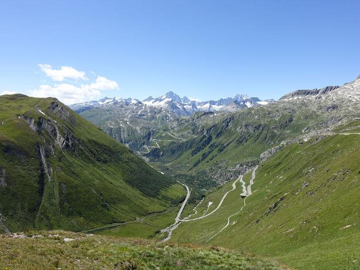 Mountain Mountain Range Mountain View Majestic Idyllic Landscape Swiss Alps Swiss Mountains Switzerland Furkapass Grimselpass Wallis Cloud - Sky Season  Summer Beauty In Nature Nature The Purist (no Edit, No Filter)