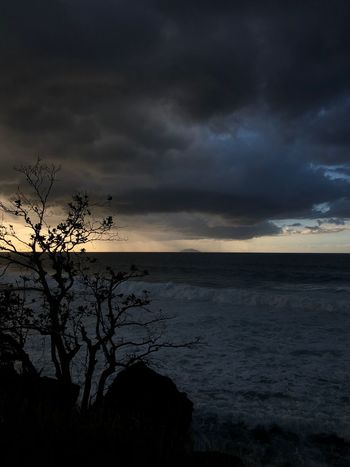 Dark beauty pt.2 Puerto Rico Sunset Sky Beauty In Nature Cloud - Sky Nature Tranquil Scene Scenics Silhouette Dusk Storm Cloud Tranquility Outdoors No People Dramatic Sky Horizon Over Water Water Sea Idyllic Landscape Tree