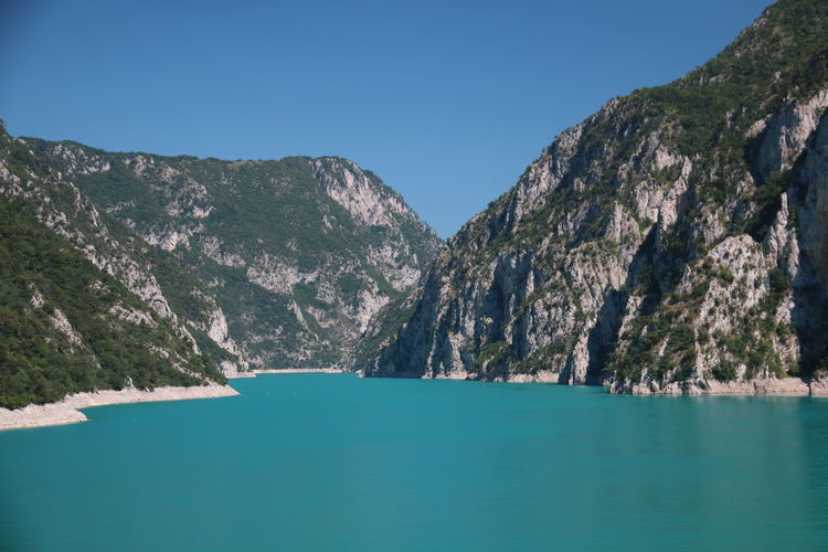 Blue and green, Piva lake Wilderness Montenegro Wild Beauty Beautiful Montenegro Wild And Beautiful Blue And Green Blue And Green Nature Lake 3XPUnity Taking Photos Beautiful Nature Close-up Nature Tree Water Mountain Blue Lake Pinaceae Pine Tree Forest Clear Sky Rock - Object Eroded Canyon Natural Landmark Rugged Rock Formation Mountain Peak Rocky Mountains Steep