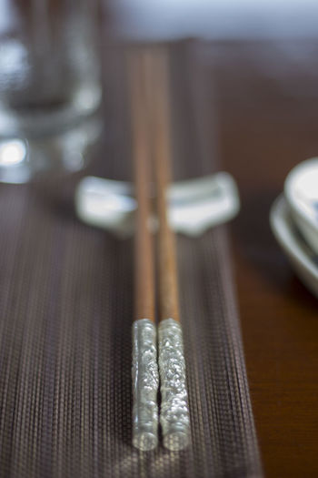 Chopsticks on table